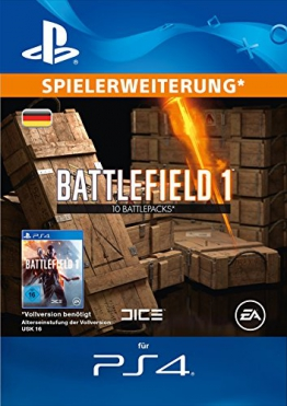 Battlefield 1 Battlepacks x 10 DLC [PS4 Download Code - deutsches Konto] -