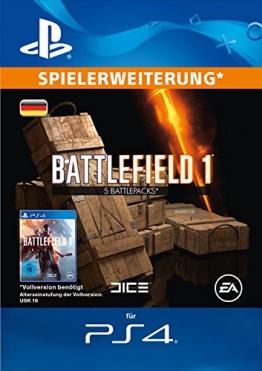 Battlefield 1 Battlepacks x 5 DLC [PS4 Download Code - deutsches Konto] -