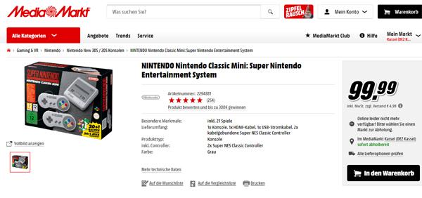 jetzt fix nintendo nintendo classic mini super nintendo. Black Bedroom Furniture Sets. Home Design Ideas