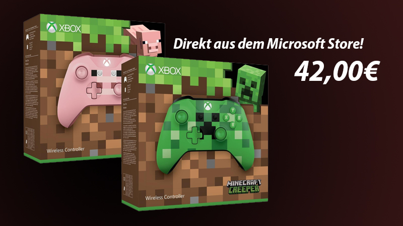Minecraft Xbox One Controller Pig Oder Creeper Nur Inkl Versand - Minecraft mit xbox controller spielen pc
