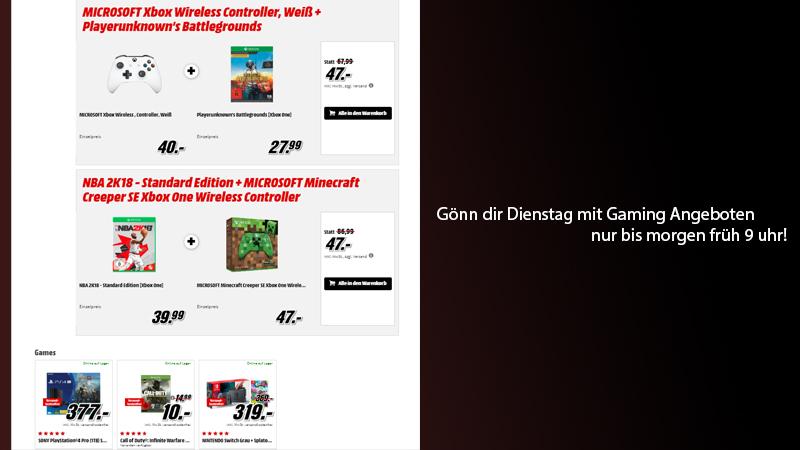 Gönn Dir Dienstag Mit Einigen Guten Xbox One Angeboten | PS4 Pro Und  Nintendo Switch Im Bundle!