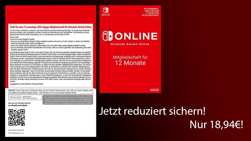 Nintendo Online 365 Tage Mitgliedschaft Schon Jetzt Zum